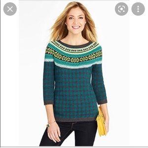 Talbots Fairisle Style Sweater